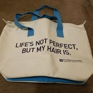 Pureology shampoo carrying tote or weekender bag